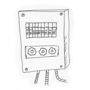 Elektroinstallation Gastraum