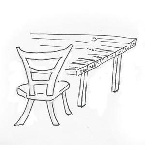 Stühle für das Lern Cafe